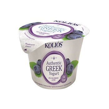 KOLIOS Authentic Greek Strained Yoghurt 0% Blueberry Layer 150g