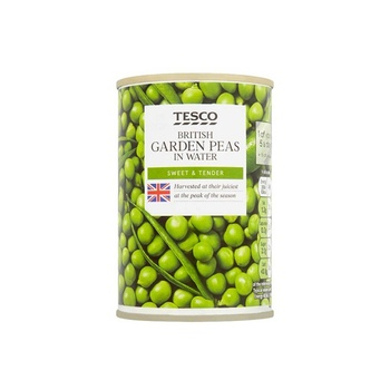 Tesco Garden Peas In Water 290g