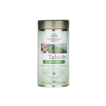 Organic India Tulsi Green Tea Bag 100g Tin