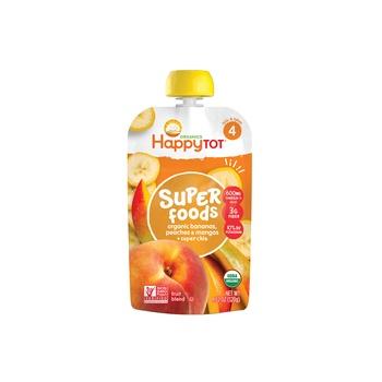 Happy Tot Organics Superfoods Stage 4 Organic Bananas, Peaches & Mangos + Super Chia 120g Pouch