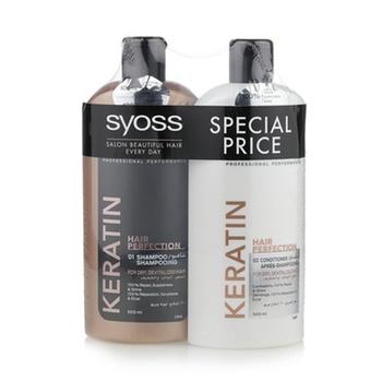 Syoss Keratin Shampoo + Conditioner 500ml @ 25% Off