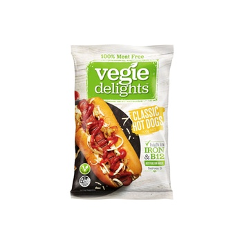Vegie Delights Meat Free Classic Hot Dogs 300g