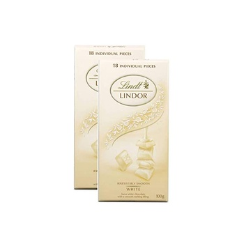 Lindt White Chocolate 100g Pack Of 2