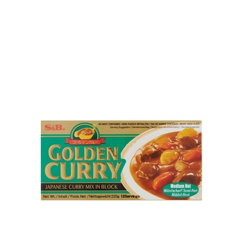 S&B Japanese Curry Sauce Mix (Med Hot) 240g