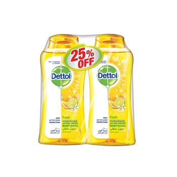 Dettol Fresh Bodywash 2 x 250 ml @ 25% Off