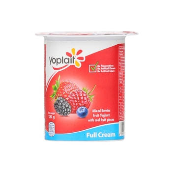 Yoplait Fruit Yoghurt Fresh & Light Full Cream Mix Berries 120g