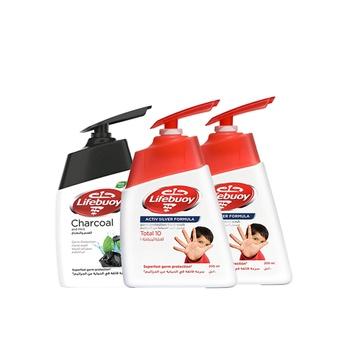 Lifebuoy Hand Wash Total 10, 2X200ml + 180ml free