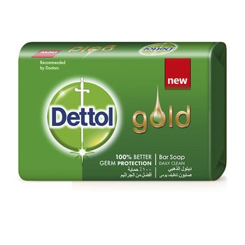 Dettol Gold Anti-Bacterial Bar Soap Daily Clean 120g