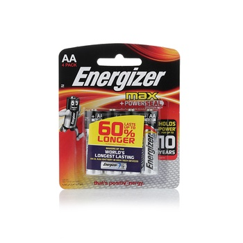 Energizer Max AA (Pack 4 )