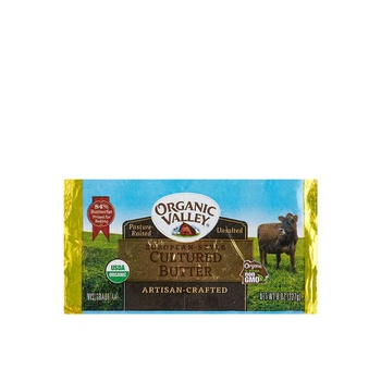 Organic Valley Butter Unsalted 8Oz