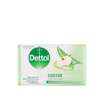 Dettol Soothe Antibacterial Bar Soap Aloe Vera & Apple 165g