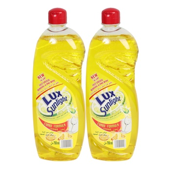 Lux Sunlight Dishwash Liquid Lemon 2X750ml
