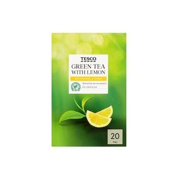 Tesco Green Tea With Lemon 20 s