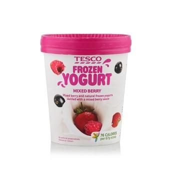 Tesco Frozen Yoghurt Mixed Berry 500ml