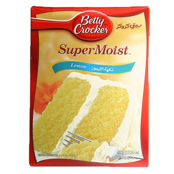 Betty Crocker Super Moist Cake Mix Lemon 500g