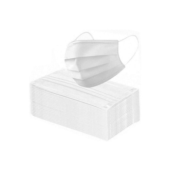 Deposable Protective 3 Layered Non Woven-Face Mask (White)