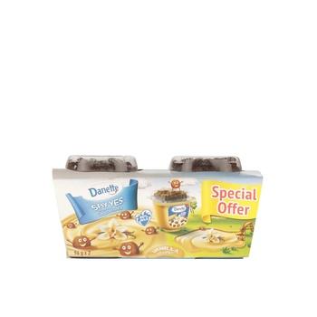 Danette Dessert Vanilla Flavour with biscuit topper 2x96g