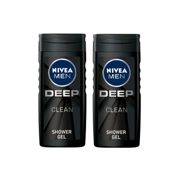 Nivea Men Deep Clean Shower Gel 2 x 250ml