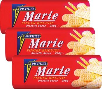 McVities Marie Finger 200g Pack of 3
