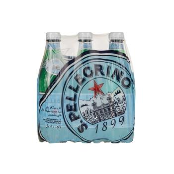 S.Pellegrino Sparkling Natural Mineral Water PET Bottle 500ml 6-pack