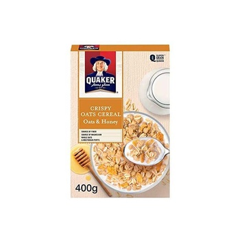 Quaker Cereal Oats & Honey 400g