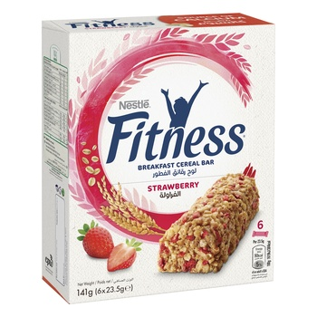 Nestle Fitness Straw Cereal Bar 6 Pk