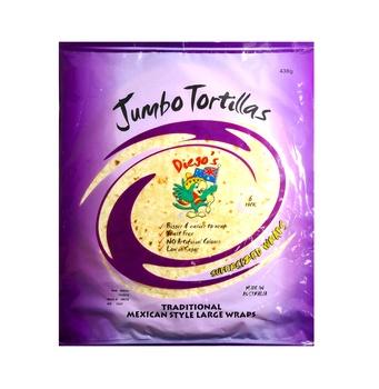 Diegos Jumbo Tortilla 438g