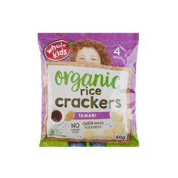 Wholekids Organic Tamari Rice Crackers 60g