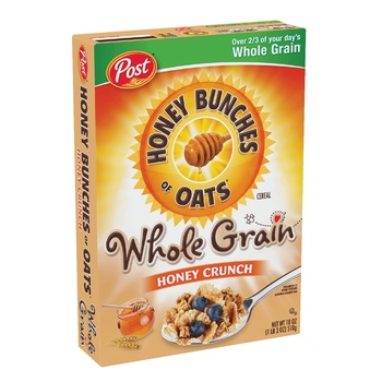 Post Honey Bunches Of Oats Whole Grain Honey Crunch 18 OZ