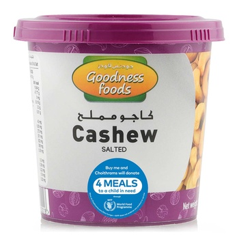 Goodness Food Cashew Roasted & Salted Jar 175g