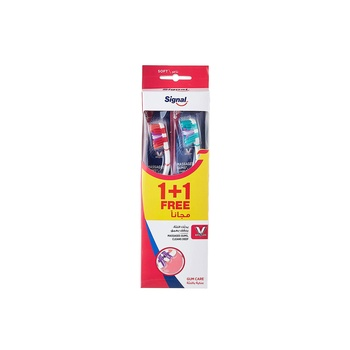 Signal Toothbrush V-Gum, Soft, Assorted, 2 pcs