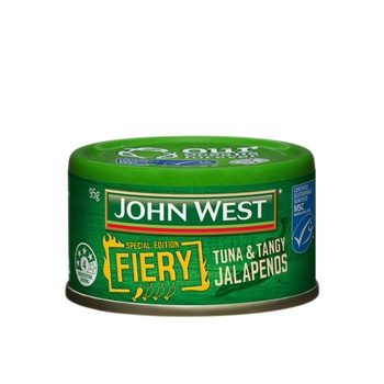 John West Fiery Tuna & Tangy Jalapenos 95g
