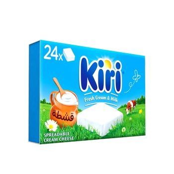 Kiri Spreadable Cream Cheese Squares 24 Portions 432g