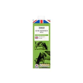 Tesco British Semi-Skimmed Milk 1 ltr