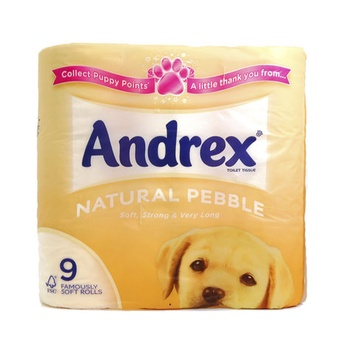 Andrex Toilet Tissue Natural Pebble 9pcs