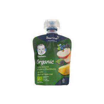GERBER Organic Pears Apple Banana 90g