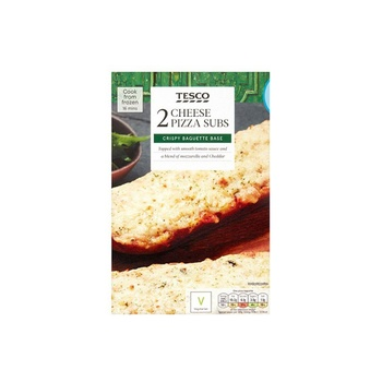 Tesco 2 Pizza Subs Cheese 260g