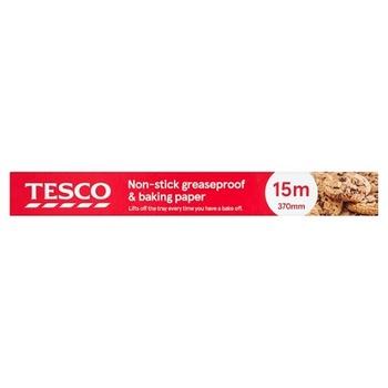 Tesco Non Stick Baking Paper 70mmx15 Mtr