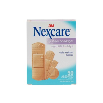 Nexcare Sheer Bandages Assorted 50g