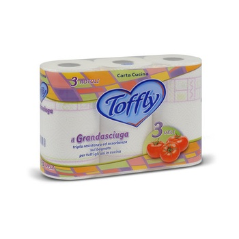 Toffly Kitchen Roll 3Ply 3 Roll