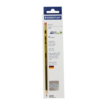 Staedtler Noris Pencil with Rubber Tip -12pcs pack
