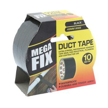 Maxifix Black Duct Tape- 10 m