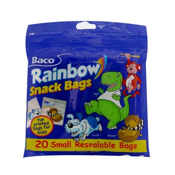 Baco Rainbow Snack Resealable Bags 20 pcs