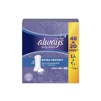 Always Extra Protect Daily Liners, 68 Count
