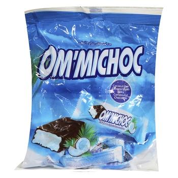 Om Michoc Ccnut Bar Choc Filled600g