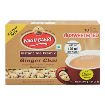 Wagh Bakri Unsweetened Ginger Instant Tea Premix 140g