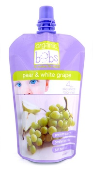 Organic Bubs Pear & White Grape 120g