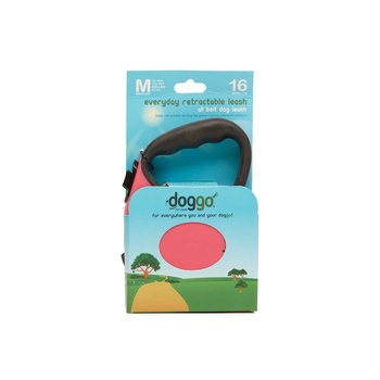 Doggo E/Day Retractable Leash Sz. Mpink