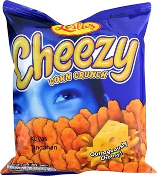 Leslies Cheezy O Chips 60g