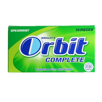 Wrigley's Orbit Chewing Gum Complete Spearmint 14 pcs